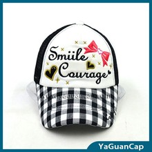 2016 fashion 5 panel embroidery snapback mesh cap children cap
