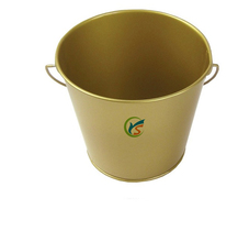 Gold Natural 5 gallon metal Pail with lid