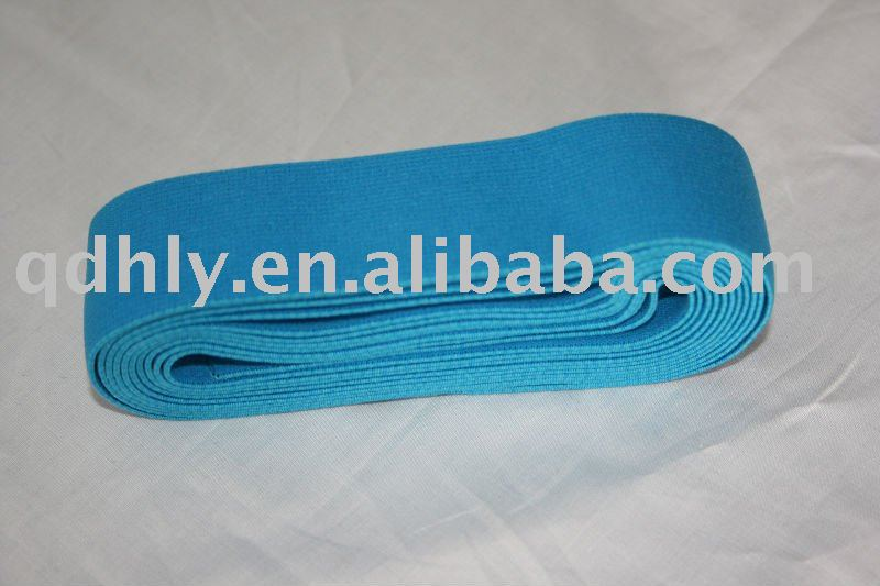 Wide woven elastic tape