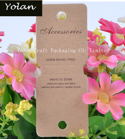 2015 HOT Kraft Paper jewelry display card