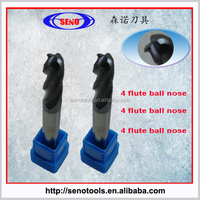 4 flute carbide ball nose end mill cutters