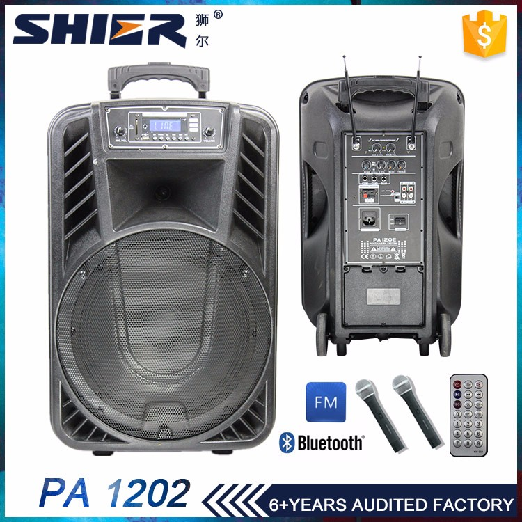 Rechargeable Wireless Portable PA System with MIC USB SD FM Bluetooth