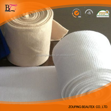 Cotton knitted tubular seamless rib fabric for cuff