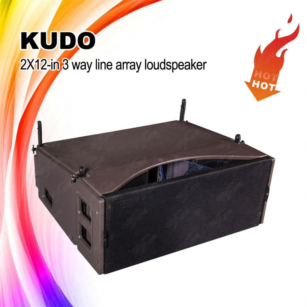 KUDO line array,dual 12-inch 3-way line array speaker box