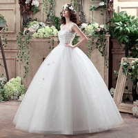 Embroidered china factory OEM weddings brides maid long dresses party beach wedding dresses