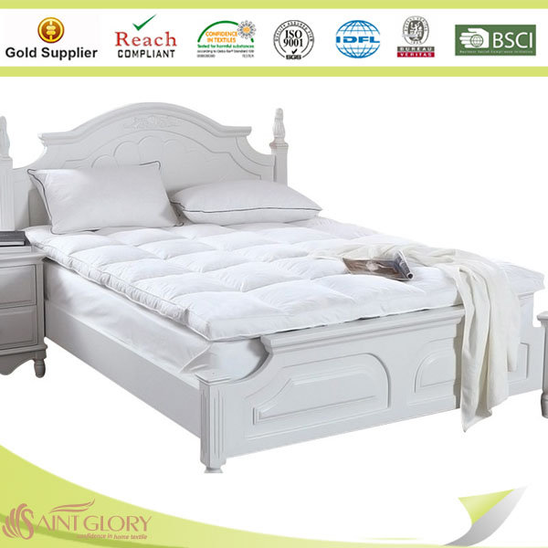 Hot Sale Five Star Hotel Used Comfortable Classical Down Fearther Mattress Topper