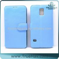 Mobile Phone Leather Case for Samsung Galaxy S5, Blue Leather Case for S5