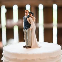 Sweet Embrace Couple Figurine Wedding Porcelain Cake Topper