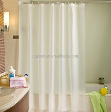 Waterpfoof and Mildew Proof Printed Plastic Shower Curtains with hook