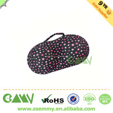 New fashion wholesale high quality portable the eva travel bra bags protect underwear lingerie travel bra cases