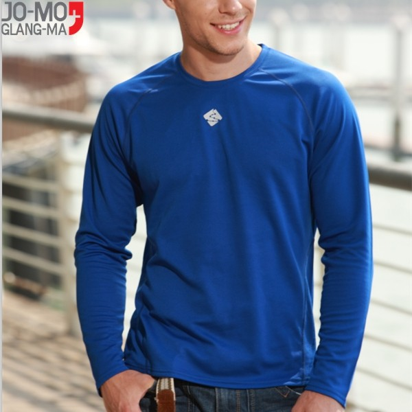 Running long sleeve custom quick dry t shirt men
