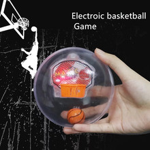 Promotional gift release stress Mini Baby Toy Basketball Board Sports Game for Kids Music LED Flashing Basketball Game Toy