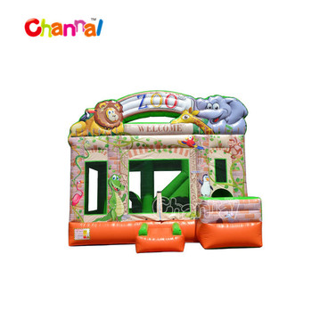 inflatable moonwalk bounce castle bouncer combo with slide inflatable bouncer