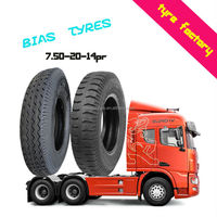 7.50-20-14 PR good traction wear resistance heavy duty truck bus tyres TBB tires made in China