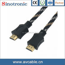 HDMI plug to HDMI plug,golded,without ferrite core,1.5M cable
