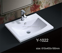 Made In China Pure Acrylic Bathroom Washing Hand Basin