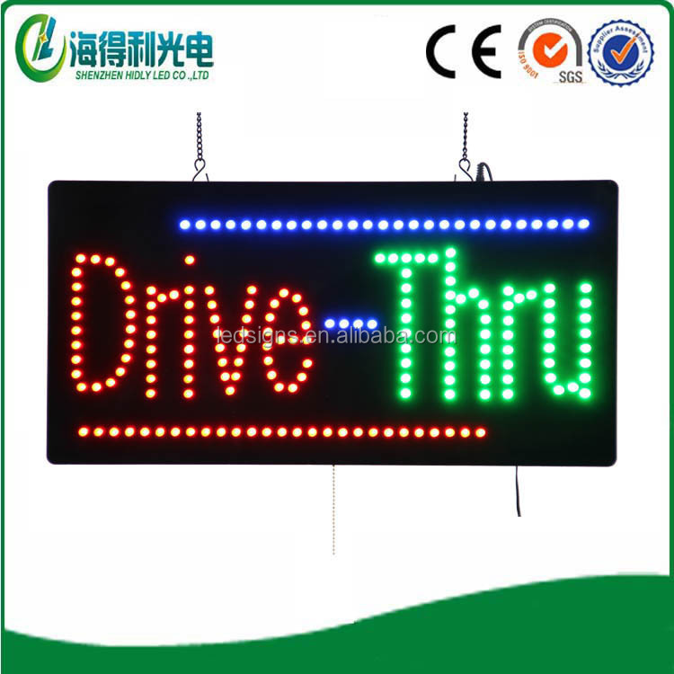 New technology Computer Aided Design flashing led Drive thru letter open sign