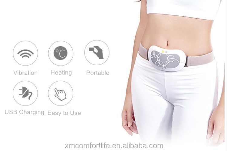 Abdominal Pain Relief Massage Belt Fat Burning Massage Belt with Heat and Vibration