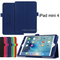 Lichee PU Leather Folio Stand Smart Case For Ipad Mini 4 Tablet case cover