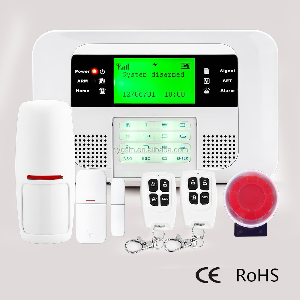 GSM & PSTN Home Burglar Alarm Control Panel Systems DY-GSM40B
