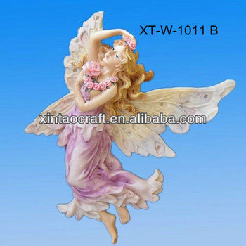 2013 resin hanging fairy figurines for wall decoration