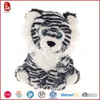 2016 China customize gift cute tiger stuffed toy stting tiger custom plush toys with fabrics for soft toys