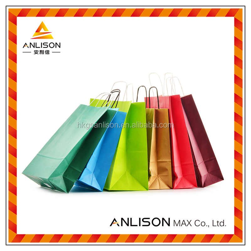 Top Quality Round Handle Paper Shopping Bag