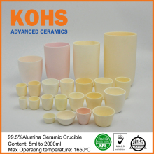 995% High Purity Alumina Advanced Ceramics Conical Refractory Crucible