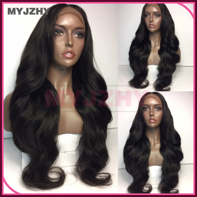 Wholesale <strong>cheap</strong> high quality natural colored Body wave brazilian huaman hair wig full lace wig