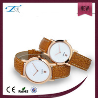 2016 china online shopping factory alloy case and thin band large orders new Jewelry pearl golden quartz watch