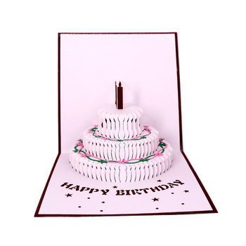 Personalized Laser Pop Up Happy 3d Birthday Greeting Card
