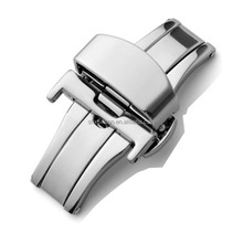 silver color deployment safety watch buckle clasp