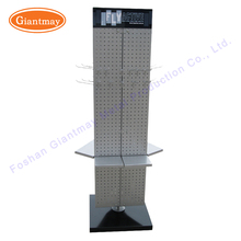 Hot sale metal floor rotating mobile cell phone accessories retail store display stand