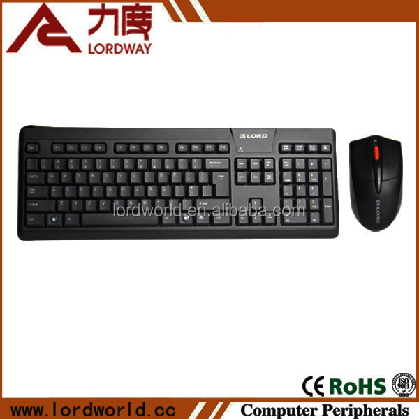 Desktop Computer PC Accessories 104 Key 2.4G Wireless USB Keyboard and Mouse Combo Set