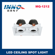2x20-35w surface mounted led parrilla <span class=keywords><strong>luminaria</strong></span>