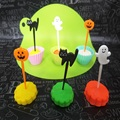 Party Supply Pumpkin Pick Plastic Halloween Pick
