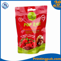 Printing Ziplock Stand Up Pouch Airtight Plastic Bag For Sugar Snack