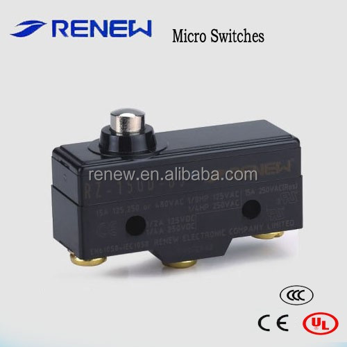 RZ-15GD-B3 short spring plunger type 250v micro switch on off