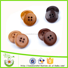 24L round shaped wooden shirt cheap buttons