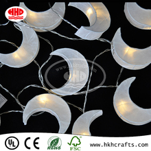 Decoration Ramadan and Christmas led moon-shadpe string lighting