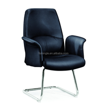 Leather /Fabric visitor chair with chrome metal base