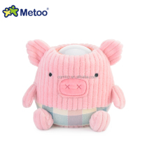 ICTI GSV Factory Metoo cartoon soft stuffed animal face plush doll with light