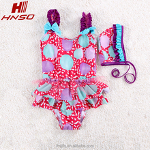 Wholesale new design swimwear Eco-friendly frabic child one piece swimsuit for girls