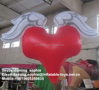 inflatable valentine's day heart balloon with lights