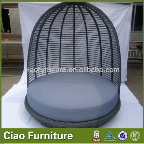 Outdoor round lounger rattan lazy lounger