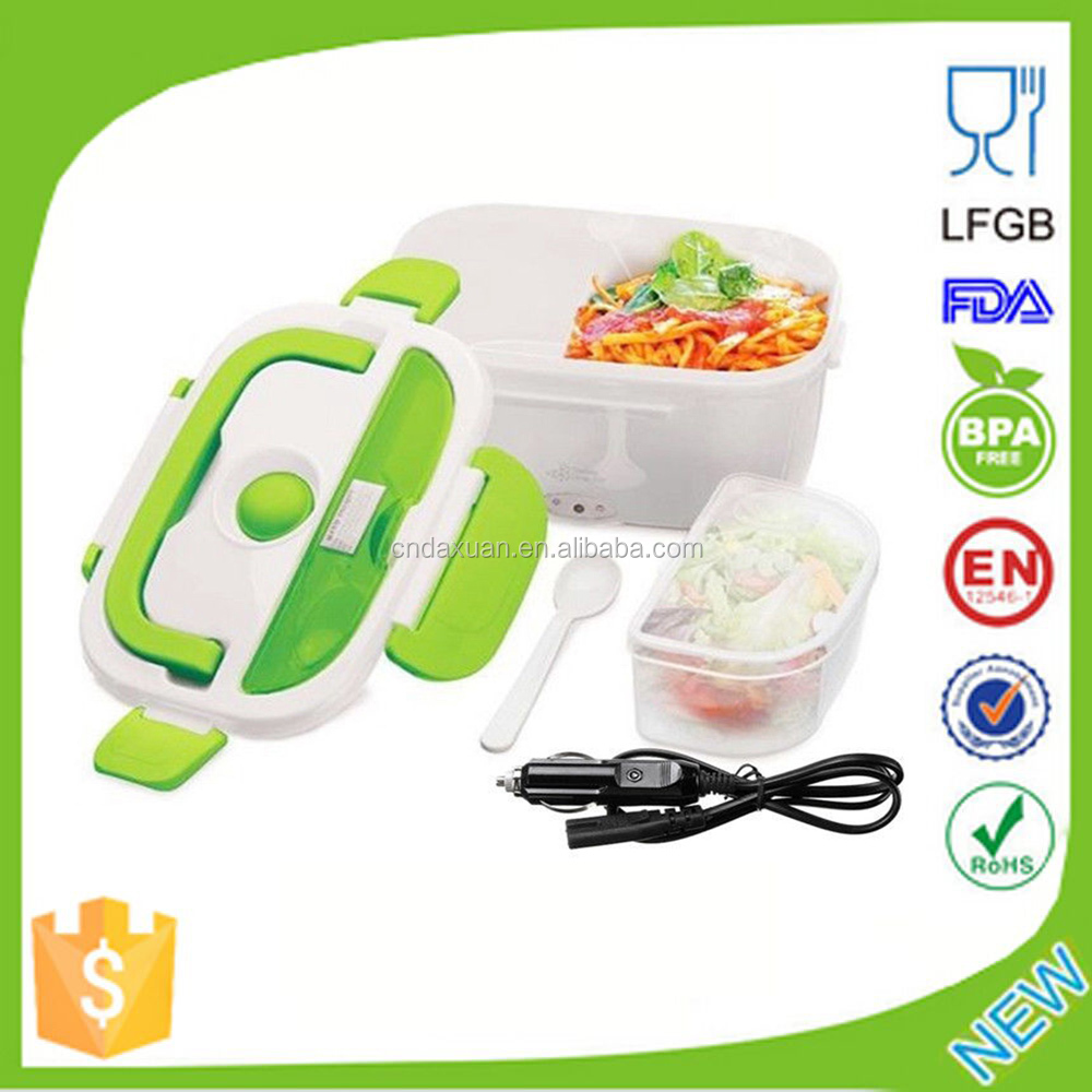 2016 New Hot Sale Electric Heated Portable Compact FOOD WARMER Lunch Box/Plastic heated food warmer container