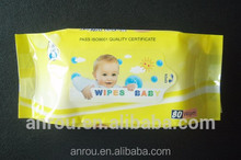 2015 well sale Anrou Spunlace Wet Wipes without cover
