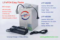 48v 30AH LiFePO4 Battery for electric motorcycles, tricycles, lifetime over 1000 cycles