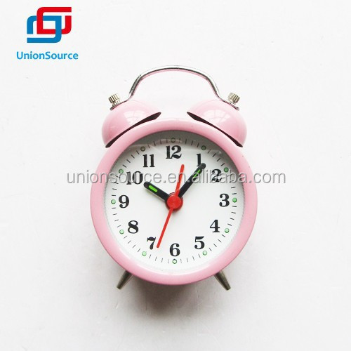 "4"" metal twin bell alarm clock with special color of body"