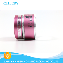 Luxury cream jars with custom jar lids makeup aluminium container